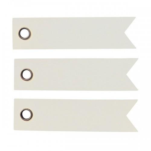 20 etiquetas blancas - Banderín
