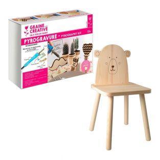 Kit pirografia + sedia bambino...