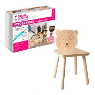 Coffret pyrogravure + chaise enfant...