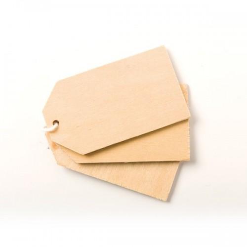 6 wooden labels 8 x 5 cm