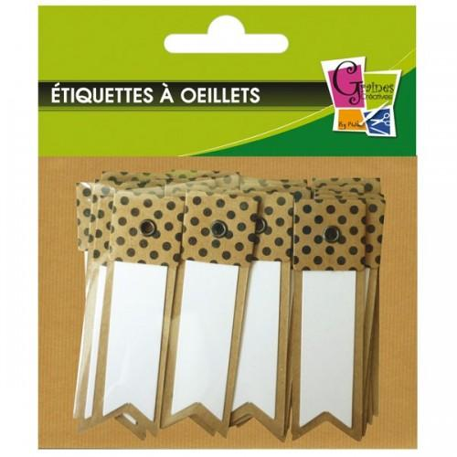 20 kraft labels with white dots - Pennant