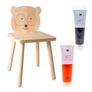 Sedia per bambini in legno Panda da...