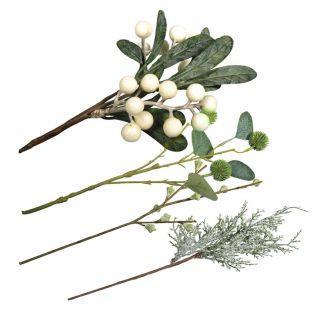 4 Zweige für die Weihnachtsdekoration