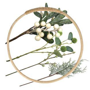 Wicker Christmas wreath to decorate Ø...