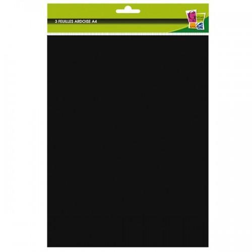 3 A4 adhesive slate sheets