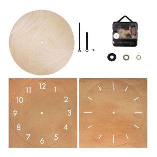 Horloge bois Ø 25 cm à monter...