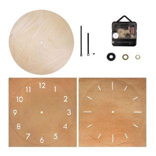 Orologio in legno Ø 25 cm da...