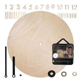 Holzuhr Ø 25 cm mit Holznummern zum...