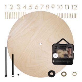 Horloge bois Ø 25 cm avec chiffres...