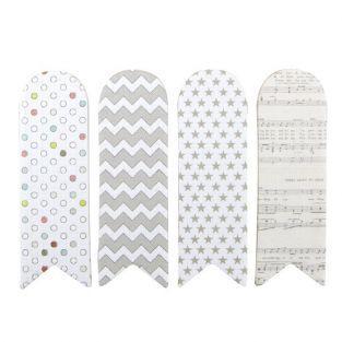 80 marcadores adhesivos - blanco con dibujos