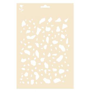 Terrazzo-Muster Schablone - A4