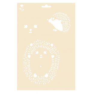 Hedgehog pattern stencil - A4