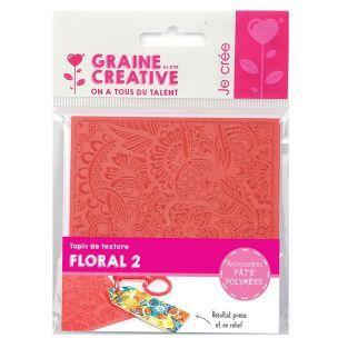Alfombra de textura para Fimo - Floral