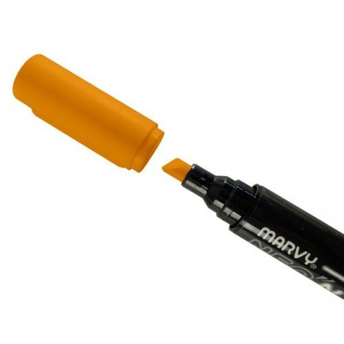 3 marcadores de tiza liquida 6 mm - azul-verde-naranja