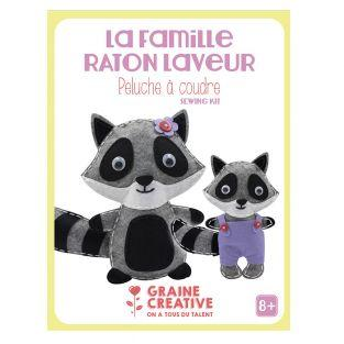 Sewing soft toys assortment - raccoon...