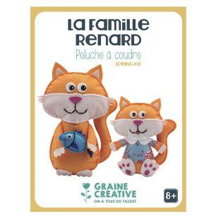 Sewing soft toys assortment - fox family