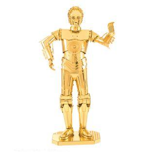 Star Wars Metal 3D Modell - Gold C-3PO