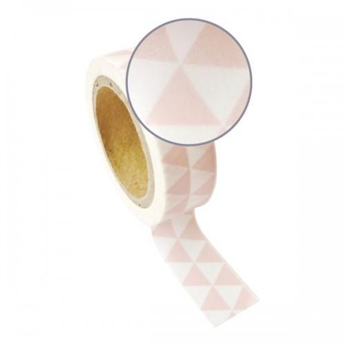Masking tape avec triangles rose & blancs