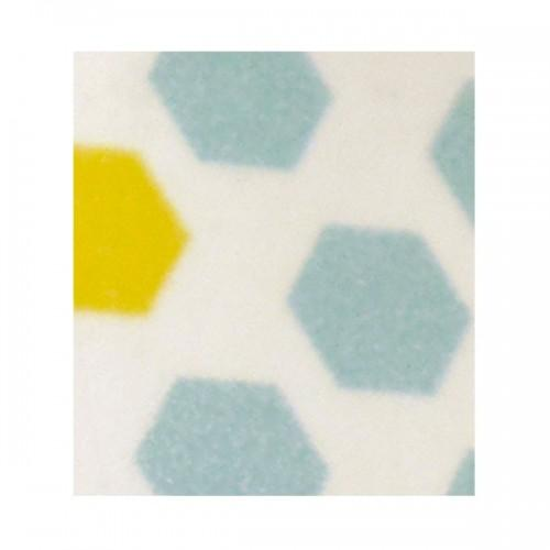 Cinta adhesiva con dibujos azules y amarillos