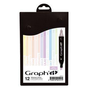 12 Marker - Graph'It - Weiche Farben