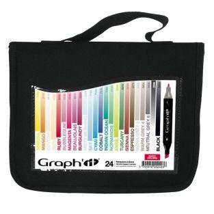 Kit 24 Graph'It markers - Basic colors