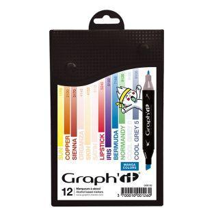 12 Marker - Graph'It  - Manga Farben