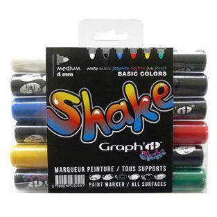 Set 6 marqueurs Médium Graph'It Shake...