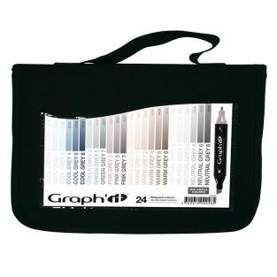 Pack of 24 Graph'It markers - Mix Grays