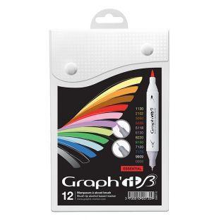 Set 12 marqueurs Graph'It Brush &...