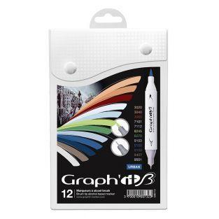 Juego de 12 marcadores Graph'It Brush...