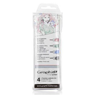 Set 4 Fine liners couleurs Graph'It -...