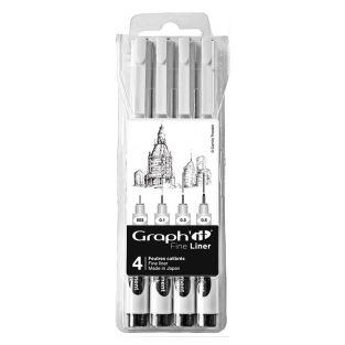 Set 4 Fine liners noirs Graph'It