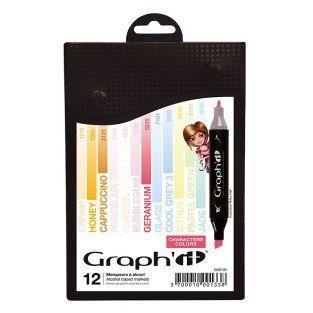Set 12 Marker - Graph'It - Zeichenfarben