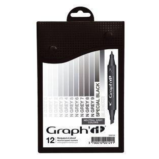 Set 12 marqueurs Graph'It - Neutral...