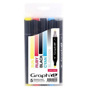 Set 5 markers Graph'It - Basic tones
