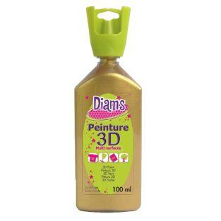 Flacon 100 ml Diam's 3D - or pailleté