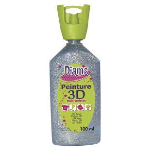 Bottle 100 ml Diam's 3D - glitter silver