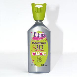 Flacon 100 ml Diam's 3D - argent nacré