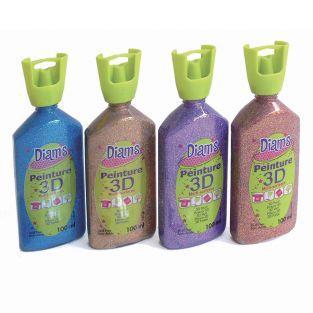 Set 4 Flasche 100 ml Diam's 3D - Glitter