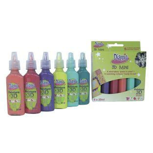 Set 6 tangy colors Diam's 3D Mini -...