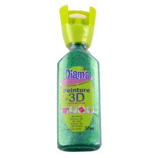 37 ml bottle Diam's 3D - glitter green