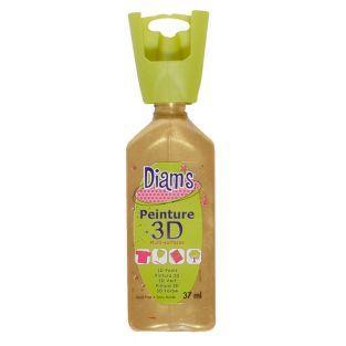 Botella de 37 ml Diam's 3D - oro perlado
