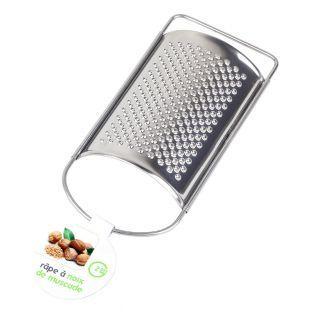 Stainless steel nutmeg grater