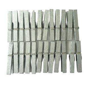 24 mini pinces à linge argentées
