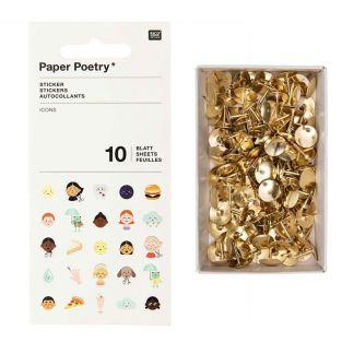 10 icon sticker sheets + 150 golden...