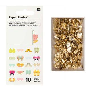 10 sheets of flower register stickers...