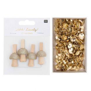 8 pinces clip bois champignons + 150...