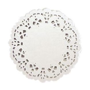 30 napperons dentelle en papier 9 cm