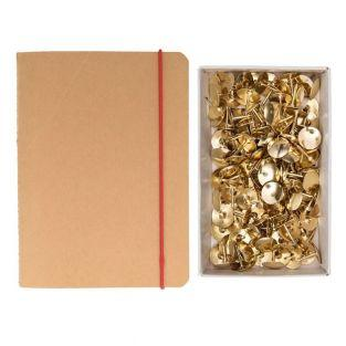 Squared notebook with elastic bands +...