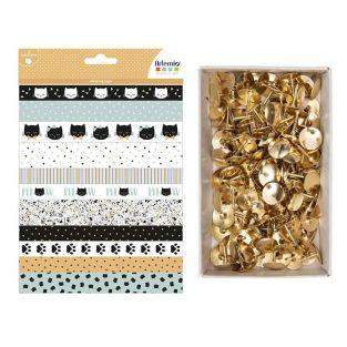 3 Blatt Washi-Papier 15-20 cm + 150...